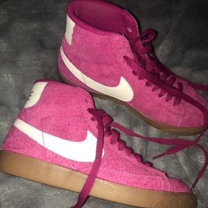 Nike Shoes - NIKE BLAZER MID SUEDE SNEAKER (Dark Pink)